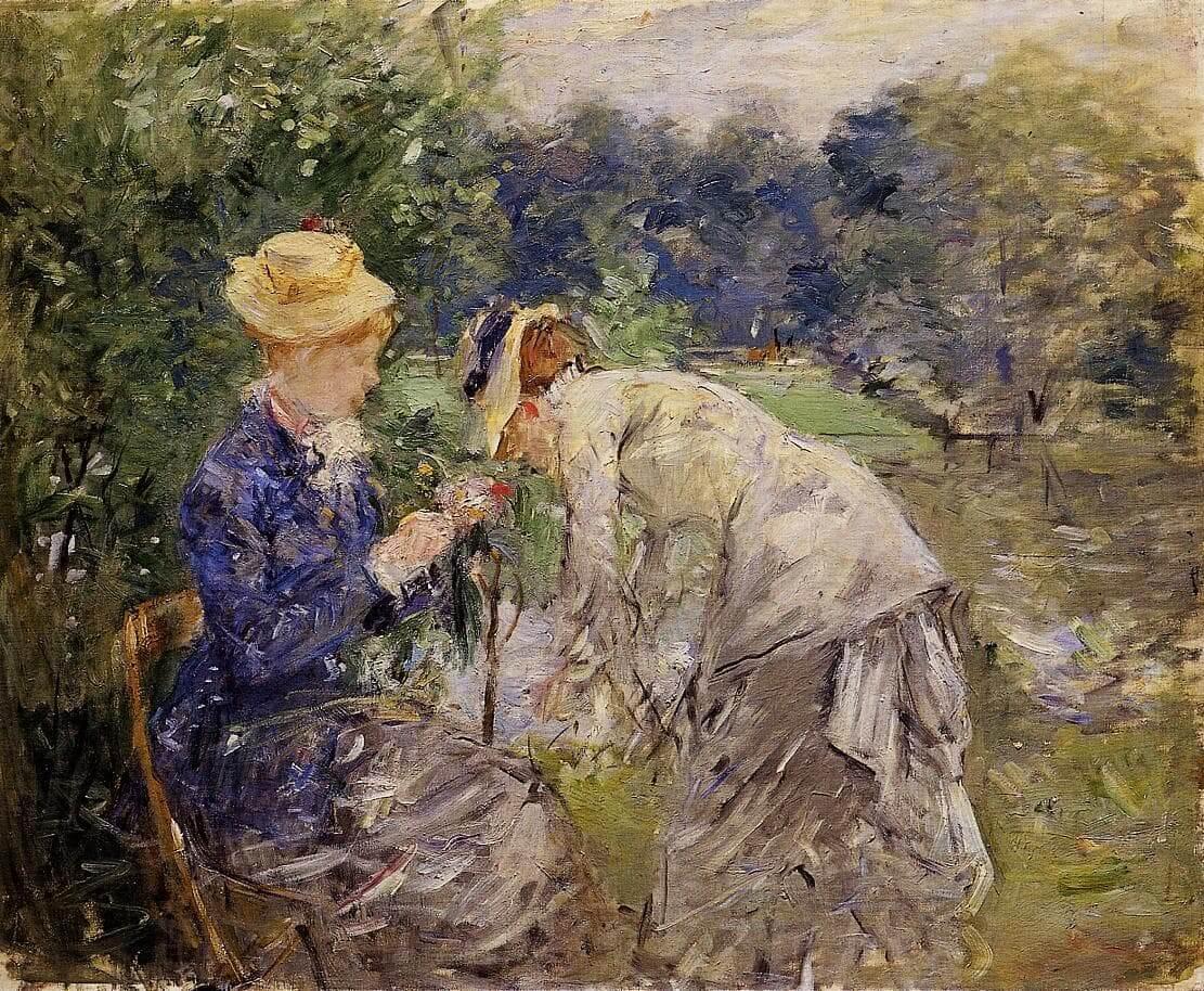 """""""I Bois de Boulogne"""" af Berthe Morisot"""